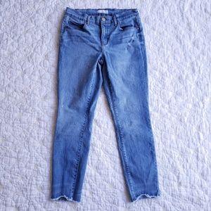 LOFT Modern Skinny Jeans with Raw Hem